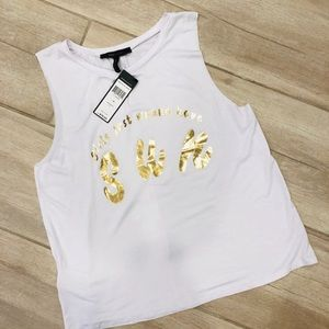 BCBG MAX AZRIA GIRLS JUST WANNA HAVE FUN TANK SZ M